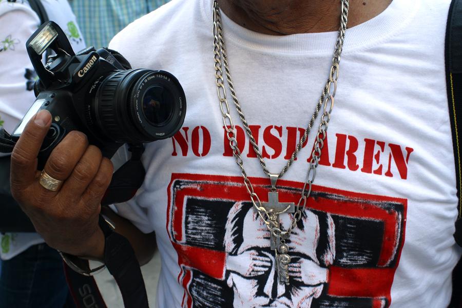 Manifestación del gremio periodístico ante la ola de violencia y las agresiones a la prensa en México. Hermosillo, Sonora. Foto: Alonso Castillo