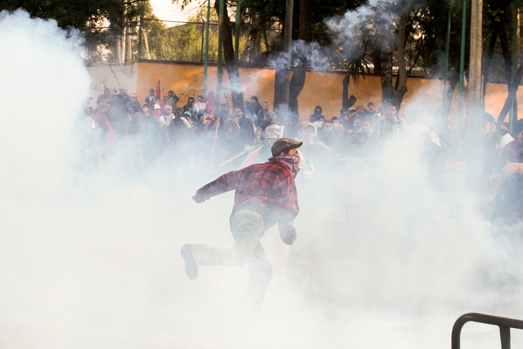 Clashes in San Lázaro