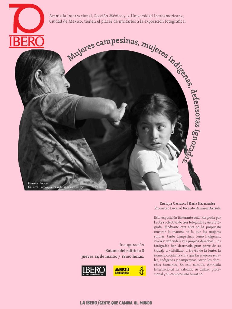Mujeres campesinas, mujeres indígenas, defensoras ignoradas, en la UIA