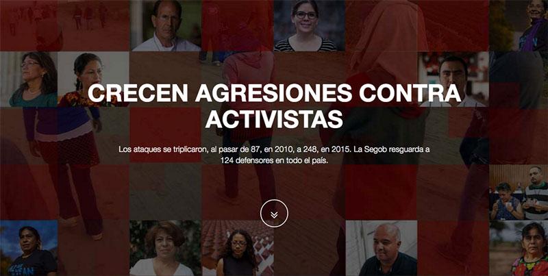 Crecen agresiones contra activistas